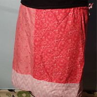 Plus size skirt, patchwork skirt