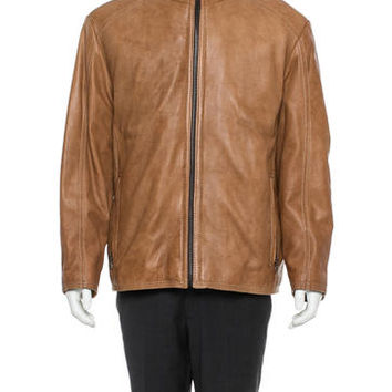 Andrew Marc Sawyer Leather Jacket