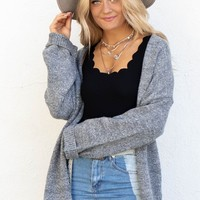 AMUSE SOCIETY Smoke Open Front Cardigan