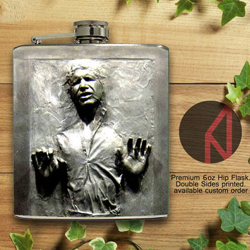 Hans Solo Carbonite 6oz and 8oz Hip Flask