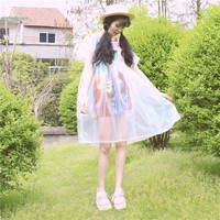 Holographic Baby Doll Dress