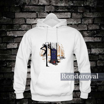 The Nightmare Before Christmas Tardis Hoodie _ Hoodie design by : rondoroyal