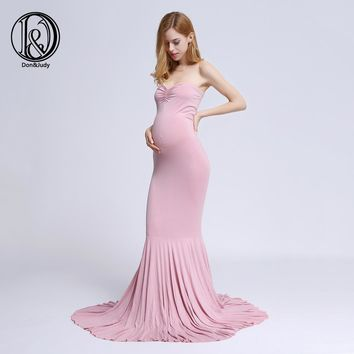 (160cm long) Cotton Gown Straight Bowknot Style on top Maternity Photography Props