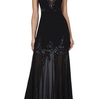 BCBG Juliane Mesh Yoke Gown