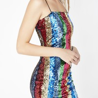 Rainbow Rays Sequin Dress