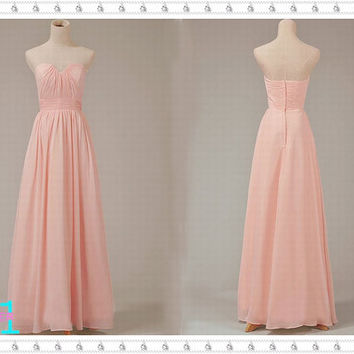 Elegant Chiffon Evening Dresses Long--Princess Long Chiffon Dresses Evening, Long Prom Party Dresses, Sexy Homecoming Dresses