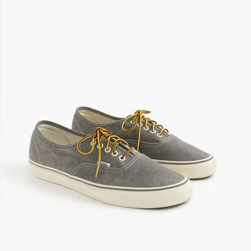 Men's Vans® For J.Crew Washed Canvas Authentic Sneakers - Men's Footwear | J.Crew