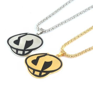 New in 2Colors  Sun and Moon Team Skull Grunts Game Hip hop Steampunk Chain Necklace fashion jewelryKawaii Pokemon go  AT_89_9
