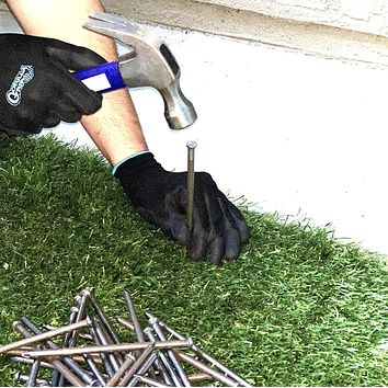 """USA MADE Synthetic Grass 6"""" Stakes, (50lbs) Spikes, Artificial Turf Mat Nails - Approximately 500 Nails (Not Galvanized)"""