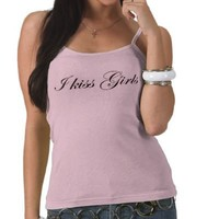 sexy cute bisexual and lesbian girls I kiss girls T Shirt from Zazzle.com