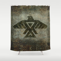Emblem of the Anishinaabe people Shower Curtain by Bruce Stanfield