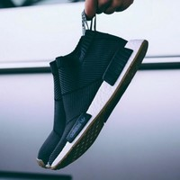 """Women """"Adidas"""" NMD Boots Casual nmd Sports Shoes Black White"""