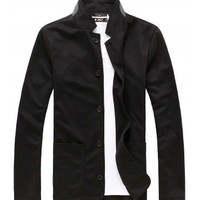 The Miller Cardigan Black - leatherandcotton
