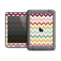 The Vintage Summer Colored Chevron V4 Apple iPad Mini LifeProof Fre Case Skin Set