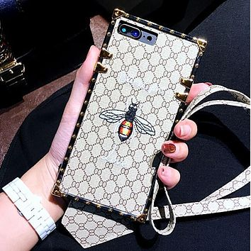 Tagre™ GUCCI Fashion Bee Embroidery iPhone Phone Cover Case For iphone 6 6s 6plus 6s-plus 7 7plus