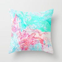 Paper Marble #society6 #decor #buyart Throw Pillow by 83oranges.com | Society6