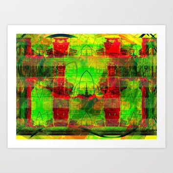 Green Miles Art Print by MarlonStyle