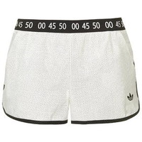 Premium Running Shorts by Topshop for adidas Originals - White