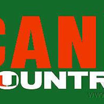 Miami Hurricanes COUNTRY SD Deluxe Laser Cut License Plate Tag University of