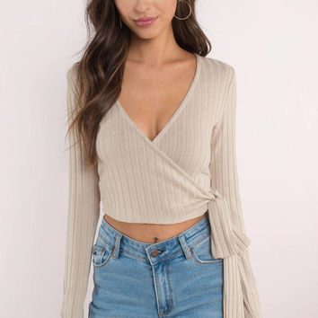 Split Ways Wrap Crop Top