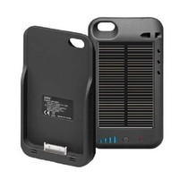 Matek (TM) Iphone 5 5S External Solar Powered Battery Charger Case 2400 Mah