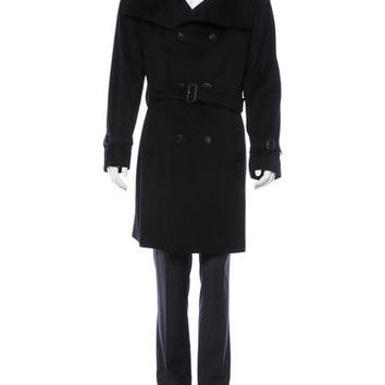 Burberry London Felted Trench Coat