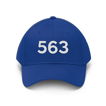 Iowa 563 Area Code Embroidered Twill Hat
