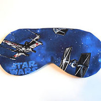 Sleep Eye Mask Star Wars Spaceships Blindfold Night Shade Cover Gift Galaxy Kids