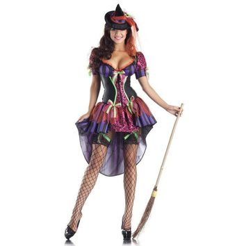 Adult Sexy gothic Witch Body Shape Halloween Costumes for Women disfraces carnival cosplay clothing fancy dress
