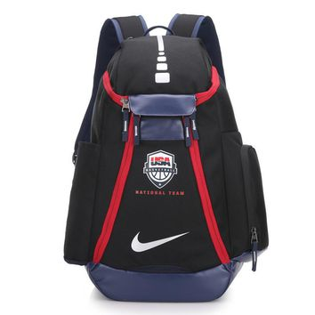 DCCK2 262 Nike USA Olympic version of NBA star KD durant backpack 54-30-23cm Black Red
