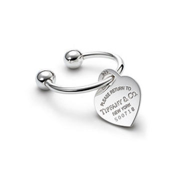 Tiffany & Co. -  Return to Tiffany™ heart tag key ring in sterling silver, large.