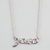 Full Tilt Yolo Pendant Necklace Silver One Size For Women 22861614001