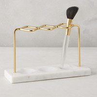 Brass Makeup Brush Holder