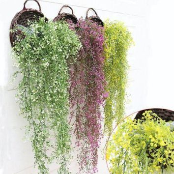 Artificial Hanging Vine Bush Plant Leaves Foliage Flower Grass Crafts
