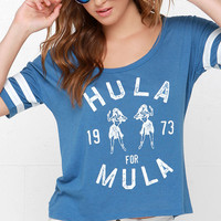 Billabong Hula Time Blue Crop Tee