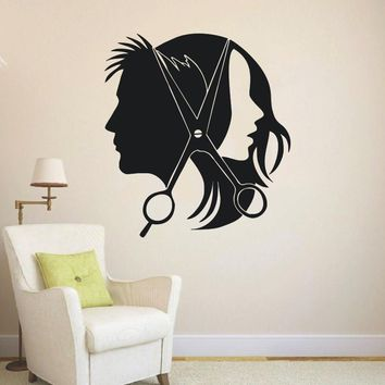 Hair Salon Barber Shop Wall Decal Art Vinyl Sticker Interior Window Decor DIY Hair Beauty Salon Wall Sticker Vinilos NY-353
