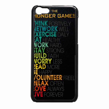the hunger games quotes e67209ef-2a6a-4539-8c3c-013e0221518d FOR iPhone 5C CASE *NP*