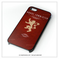 Game Of Thrones - House Lannister iPhone 4 4S 5 5S 5C 6 6 Plus , iPod 4 5 , Samsung Galaxy S3 S4 S5 Note 3 Note 4 , HTC One X M7 M8 Case