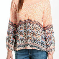 Santa Fe Printed Blouse-FINAL SALE