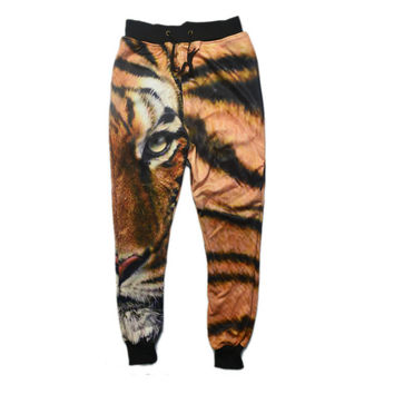 3D Lion Printing Jogging Sweatpants
