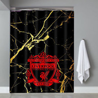 Top Famous Luxury Liverpool Logo Marble Custom Shower Curtain Limited Edition