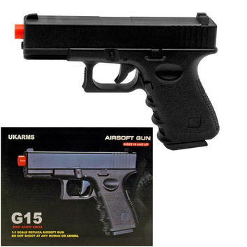 G15 MODEL HEAVY WEIGHT METAL AIRSOFT SPRING GUN PISTOL