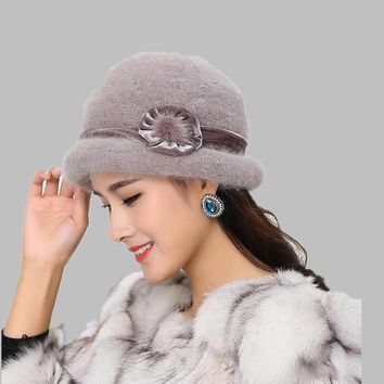aad938b827d oZyc Wool Women Bowler Winter Hat Fedora Bucket Cloche Round Cap