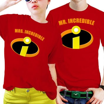 Mrs. and Mr Incredible Superhero Couples Matching Shirts, Couples T Shirts, Funny Couple Shirts