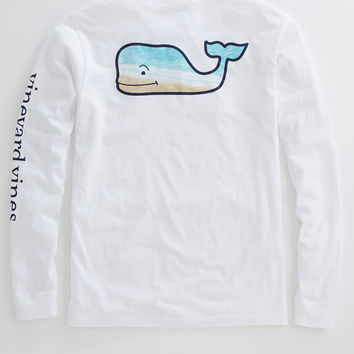 Vineyard Vines - L/S Whale Beach Pocket Tee
