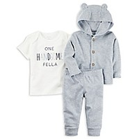carter's® 3-Piece Handsome Shirt, Hoodie, and Pant Set in Blue