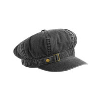 MG Unisex Pigment Dyed Special Cotton Washed Newsboy Cap-2126-BLACK