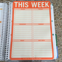 FREE SHIPPING Weekly To Do List Laminated Dashboard Insert for Erin Condren Life Planner clips right into coils!