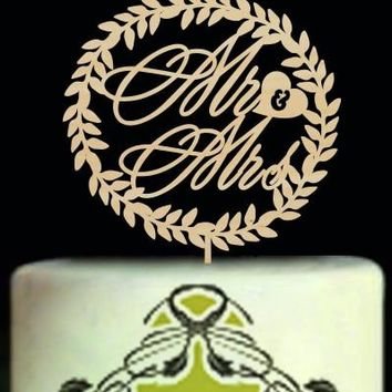 Engraving Western Cake  Personalized  Cake Toppers For Weddings