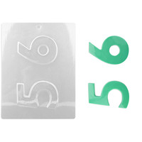 Number 5 6 Chocolate Mold